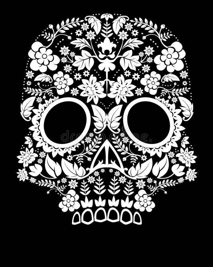 död skalle för dag vektor illustrationer
