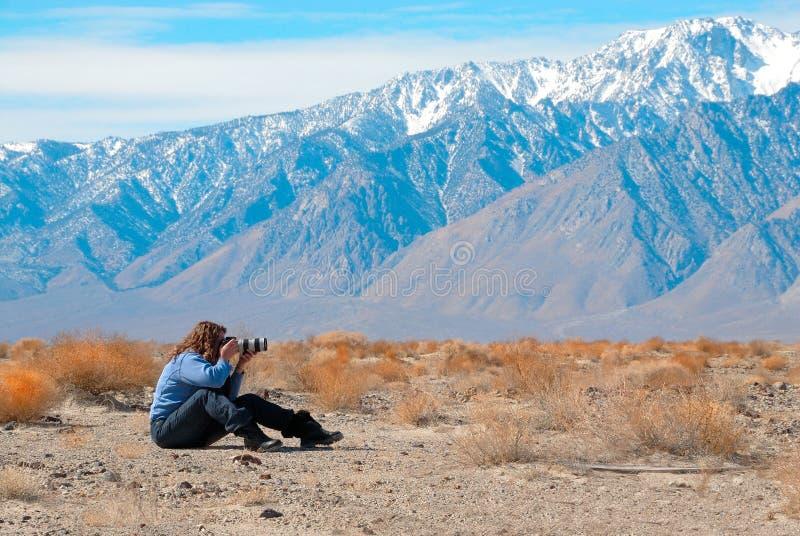 död som fotograferar dalen arkivbilder