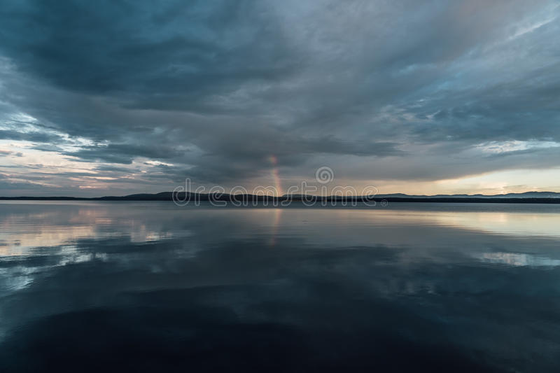 Död stillhet för stormen arkivfoton