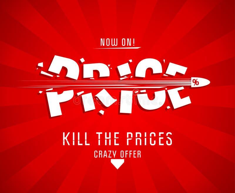 Döda prisdesignen vektor illustrationer
