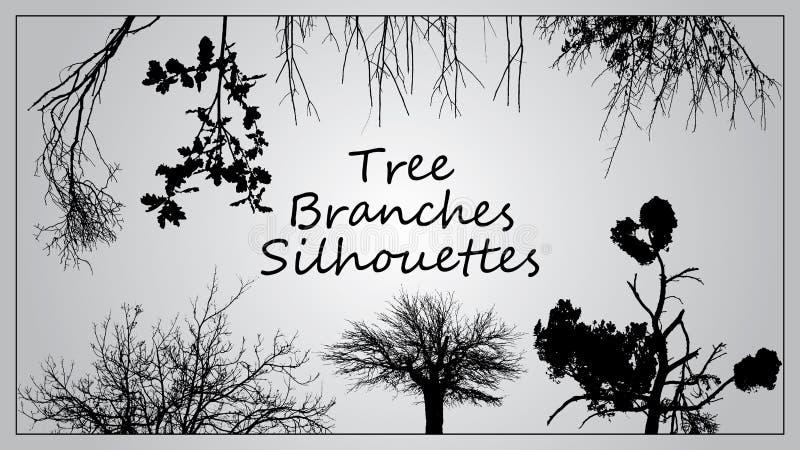 Döda träd utan sidor Skissad vektorillustration royaltyfria bilder
