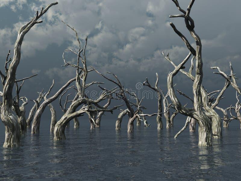 döda trees stock illustrationer