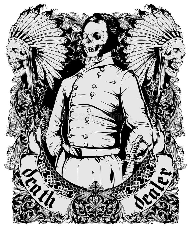 Döddelaer royaltyfri illustrationer