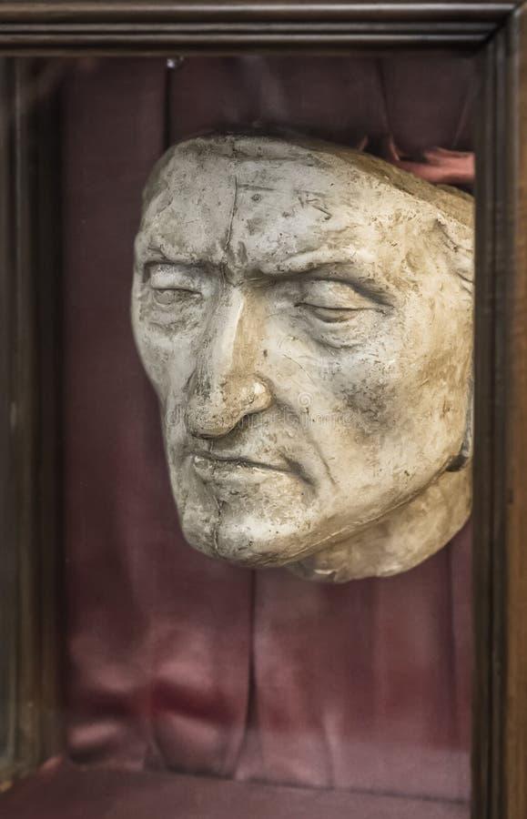 Dödmaskering av Dante fotografering för bildbyråer