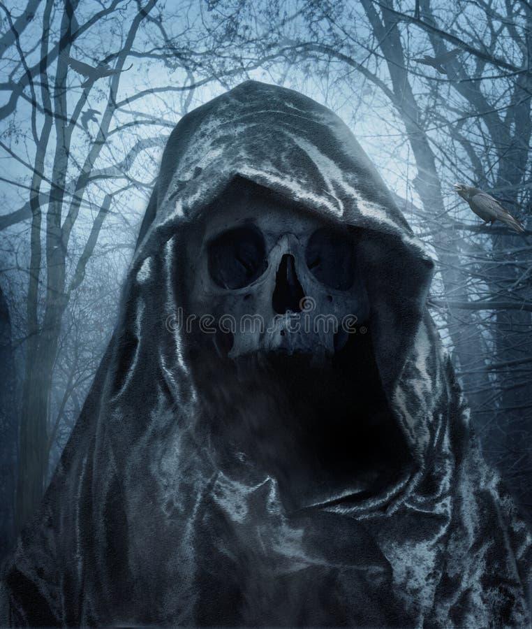 Dödsängeln Demon av mörker royaltyfria foton