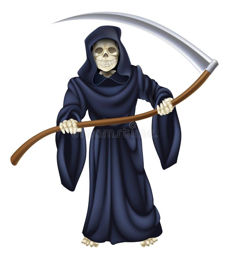 Dödskelett för grym skördemaskin vektor illustrationer