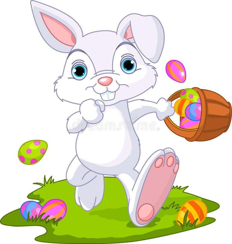 dölja för kanineaster ägg stock illustrationer