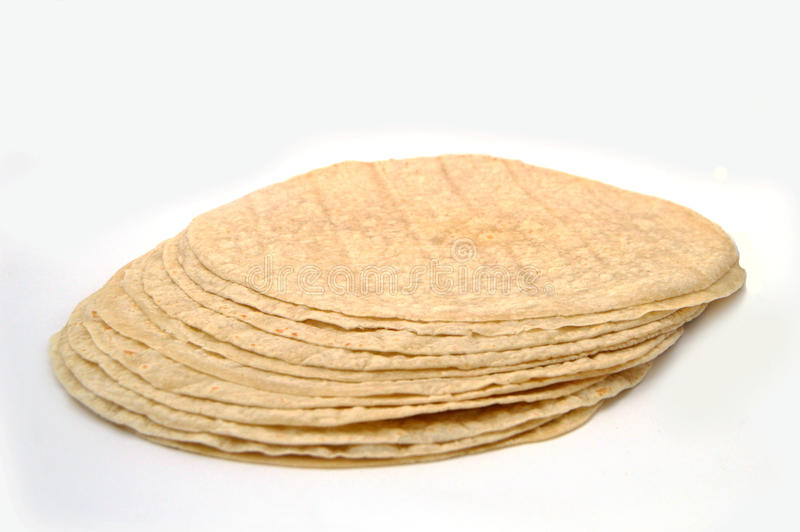 Döner kebab bread. A kind of bread made of lavash, water, flour and salt. Stay in the light, the pearl is the incredible. Used for paninis. The wood is cooked royalty free stock photo