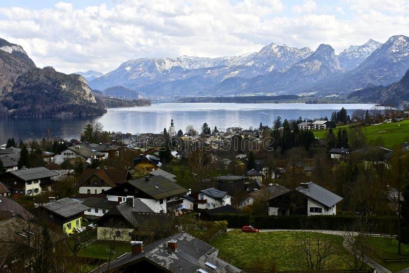 Dörfer in Österreich lizenzfreie stockfotos