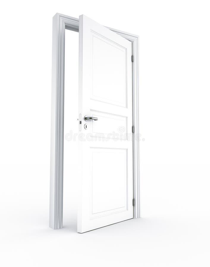 dörröppning stock illustrationer