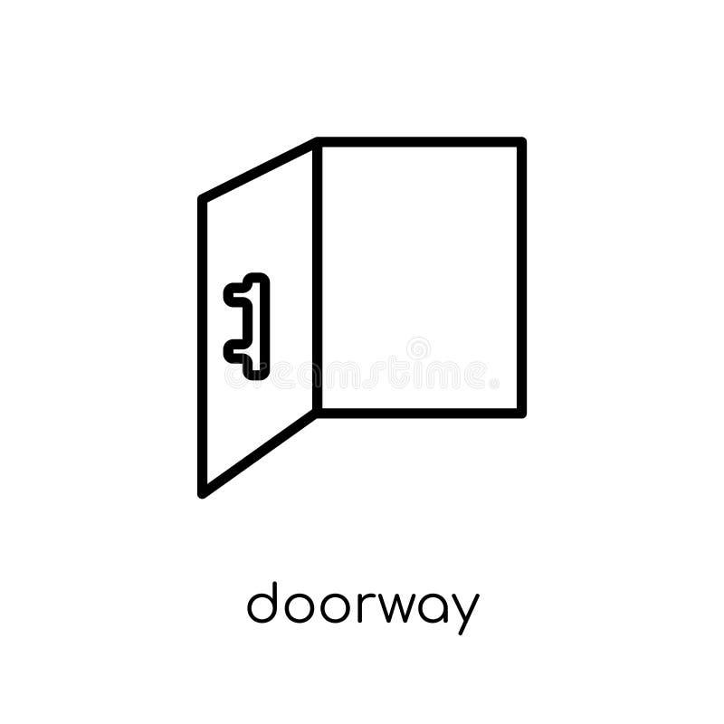 Dörröppningssymbol  stock illustrationer