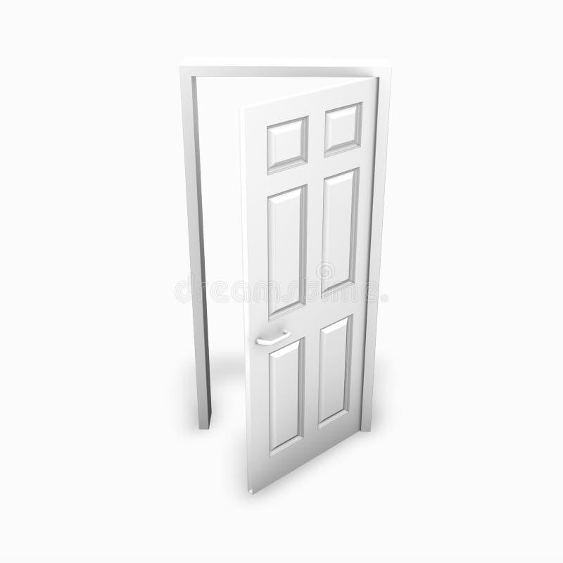 dörr öppnad white vektor illustrationer