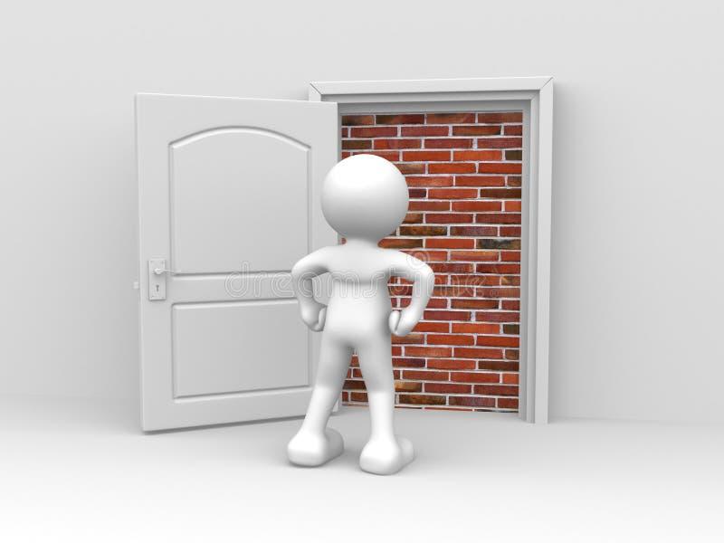 dörr royaltyfri illustrationer