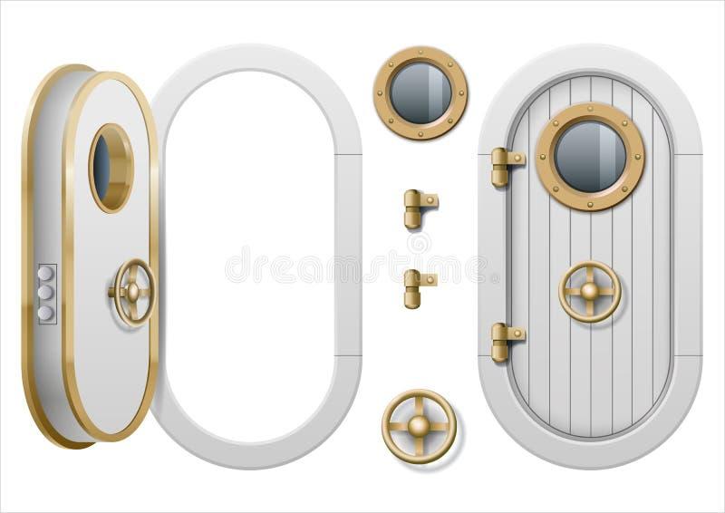 Dörr av skeppet vektor illustrationer