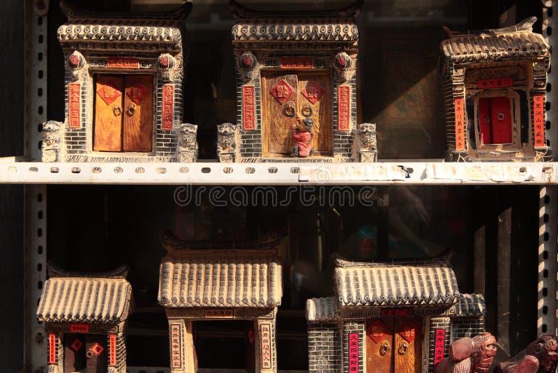 Dörr för traditionell kines royaltyfri fotografi