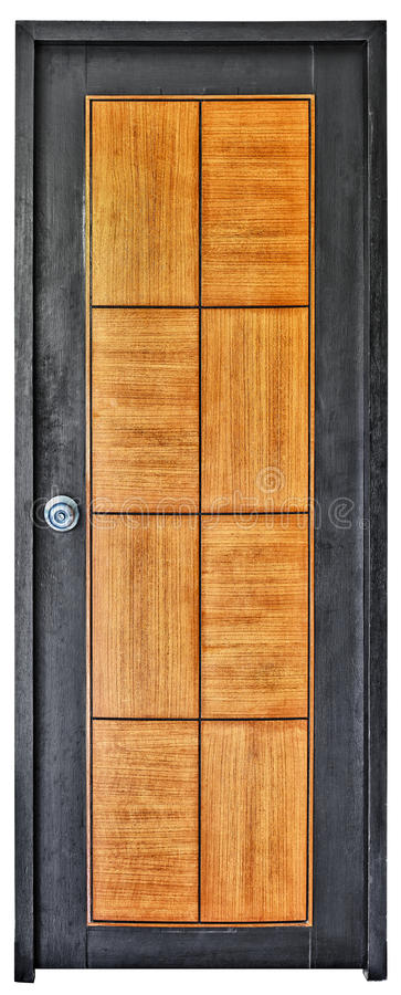 dörr isolerat modernt vitt trä royaltyfri fotografi