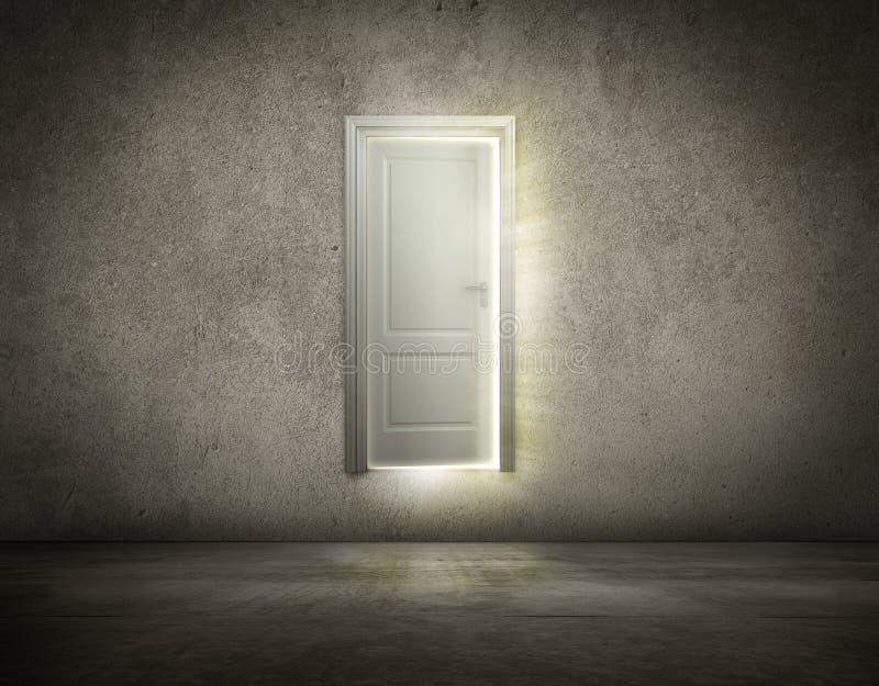 Dörr som är öppen till det nya tillfället stock illustrationer