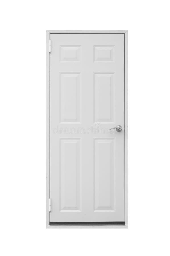 Dörr som isoleras på vit bakgrund arkivbild
