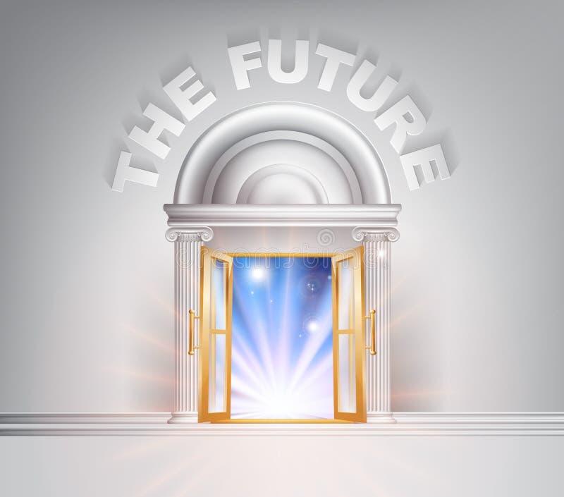 Dörr till framtiden royaltyfri illustrationer