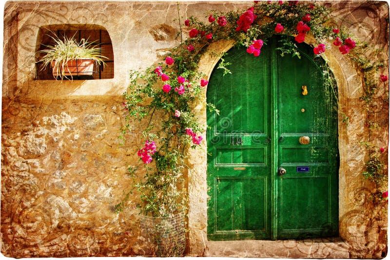 dörrar greece arkivbild