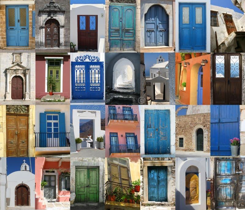 dörrar greece royaltyfri bild