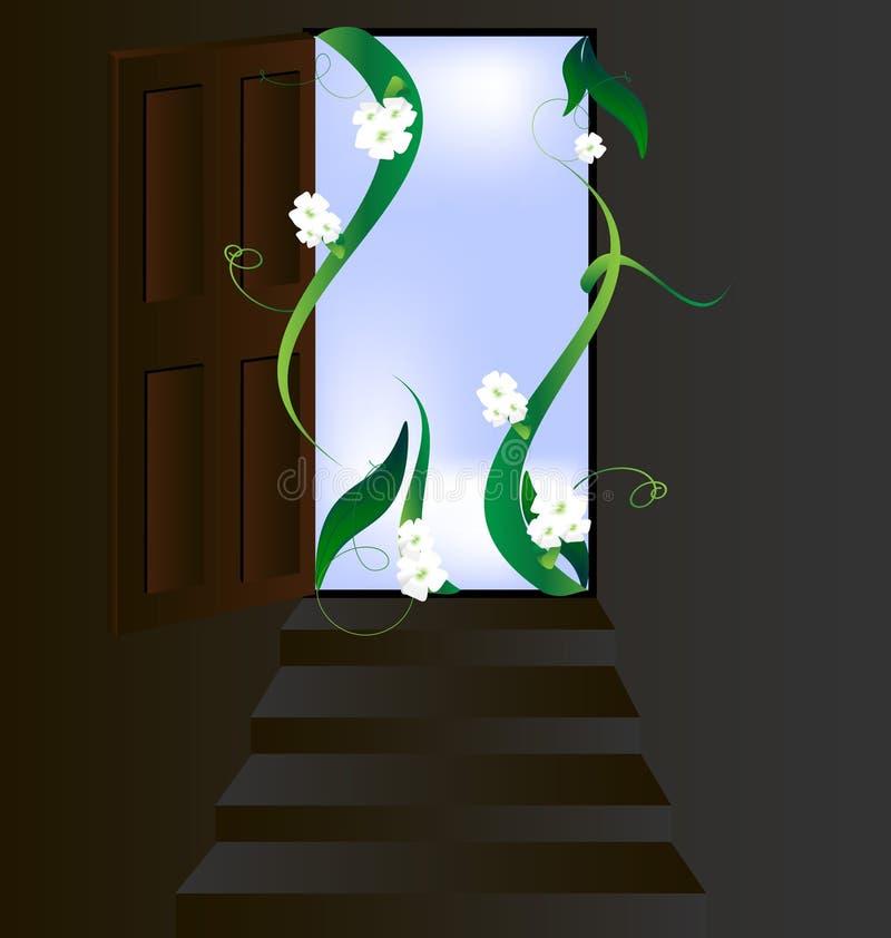 dörrblommor öppnar vektor illustrationer