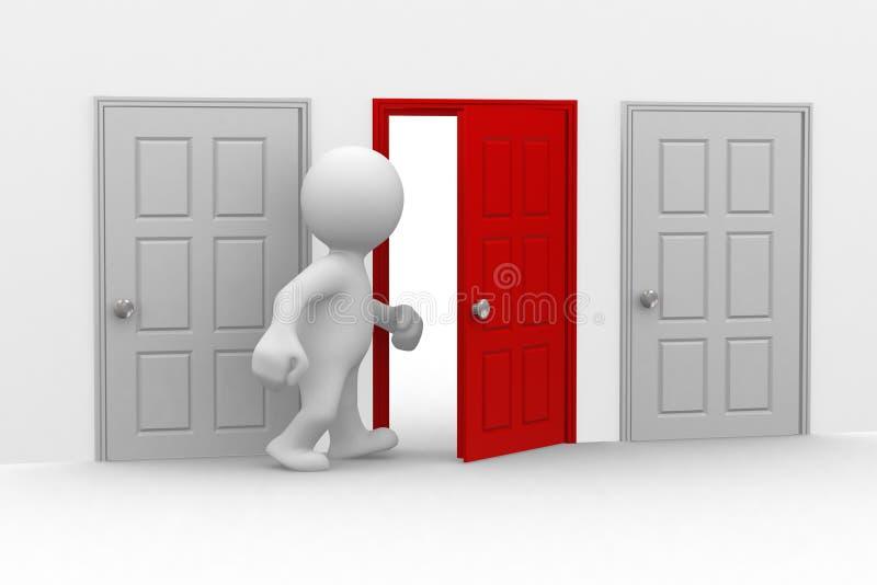 dörren öppnar ditt royaltyfri illustrationer