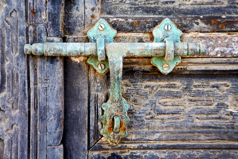 Dörren abstrakta Spanien stängde sig   lanzarote royaltyfri fotografi
