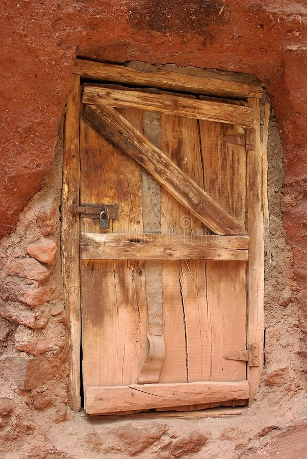 dörrethiopia lalibela arkivbilder