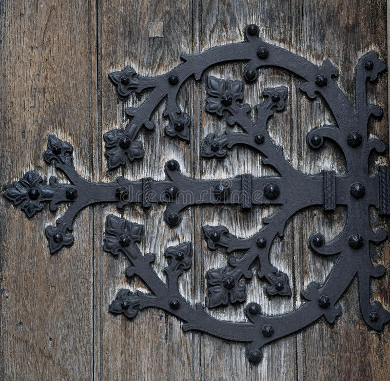 dörrgångjärn royaltyfri fotografi