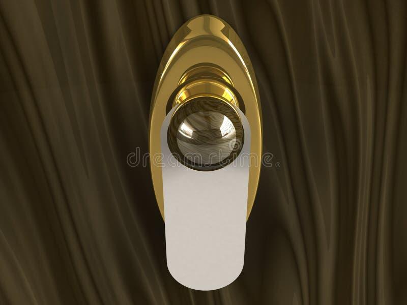 dörrhandtag royaltyfri illustrationer