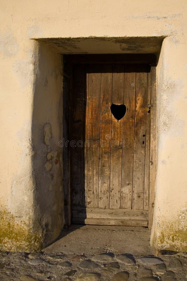 dörrhjärta royaltyfria foton