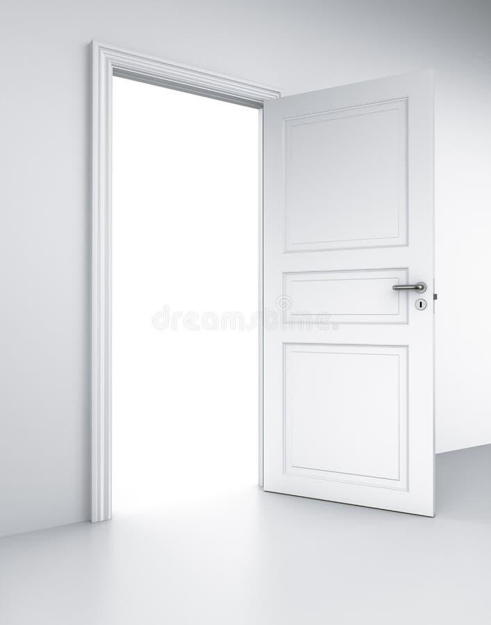 dörrlokalwhite stock illustrationer