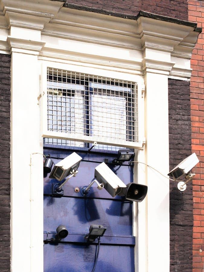 dörrsäkerhetssystem royaltyfria foton