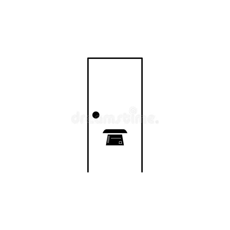dörrspringa i dörrsymbolen Beståndsdel av logistiksymbolen Högvärdig kvalitets- symbol för grafisk design Tecken och symbolsamlin royaltyfri illustrationer