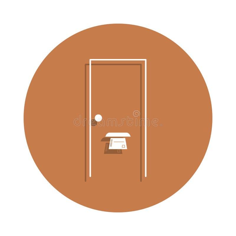 dörrspringa i dörrsymbolen i emblemstil En av den logistiska samlingssymbolen kan användas för UI, UX vektor illustrationer