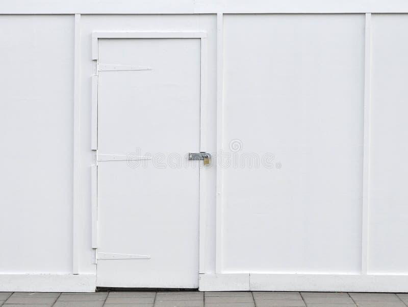 dörrväggwhite arkivfoto