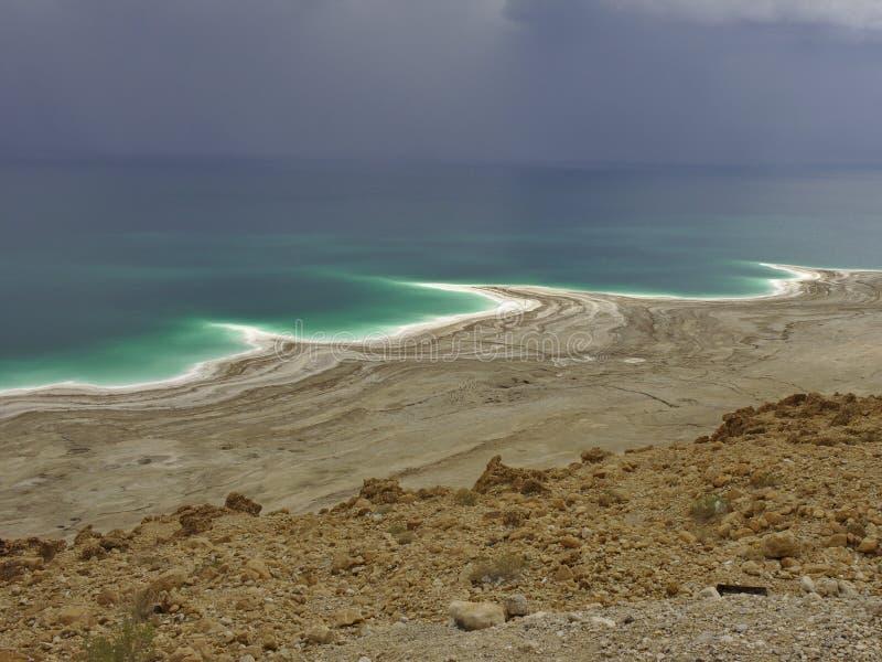 Dött hav från över royaltyfria foton