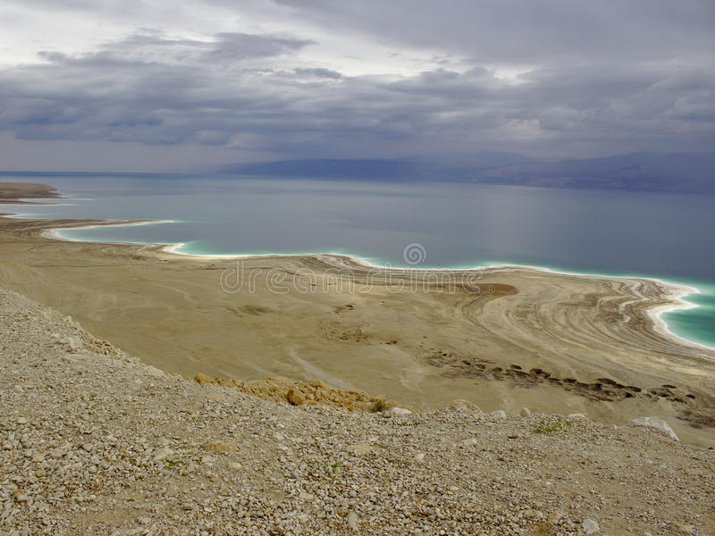 Dött hav från över royaltyfri fotografi