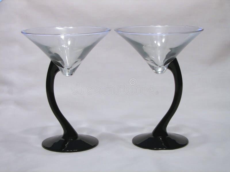 Dúo De Los Vidrios De Martini Foto de archivo