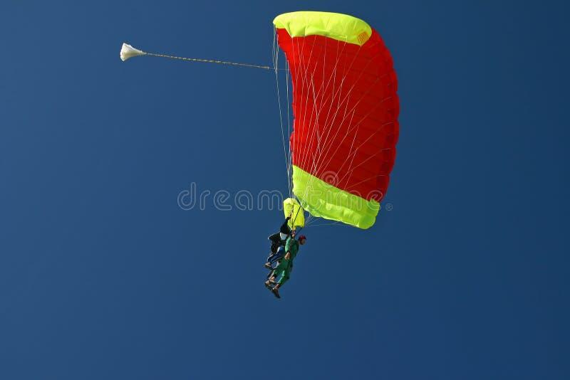 Dúo del Paragliding foto de archivo libre de regalías