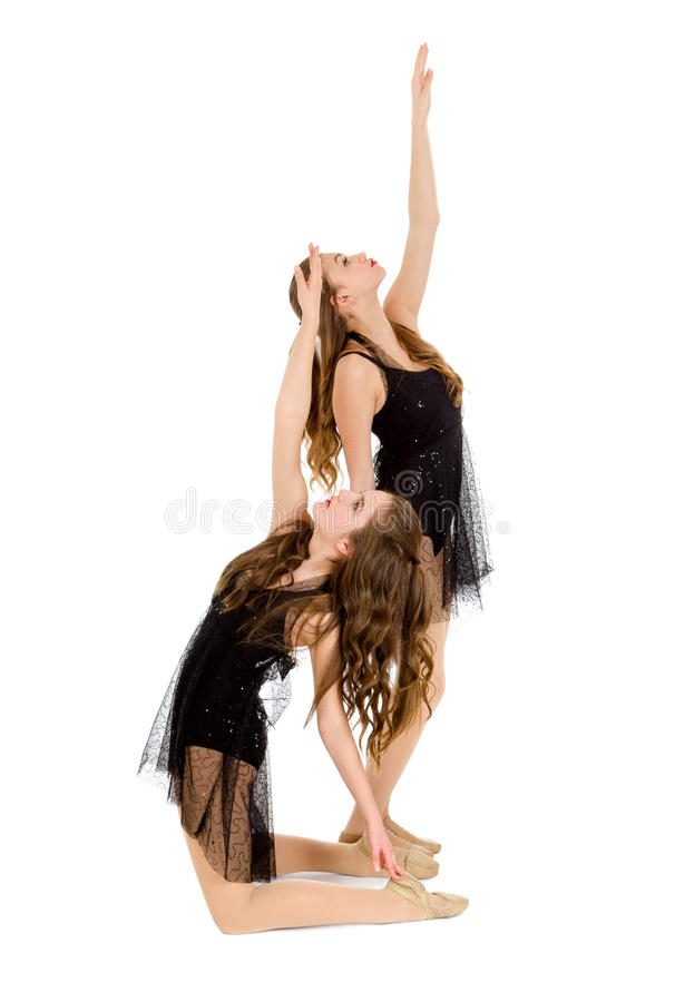 Dúo lírico elegante de la danza imágenes de archivo libres de regalías