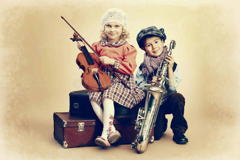Dúo musical imágenes de archivo libres de regalías