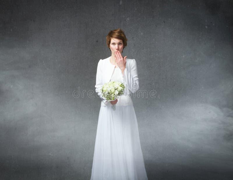 Dúvidas do casamento imagens de stock royalty free