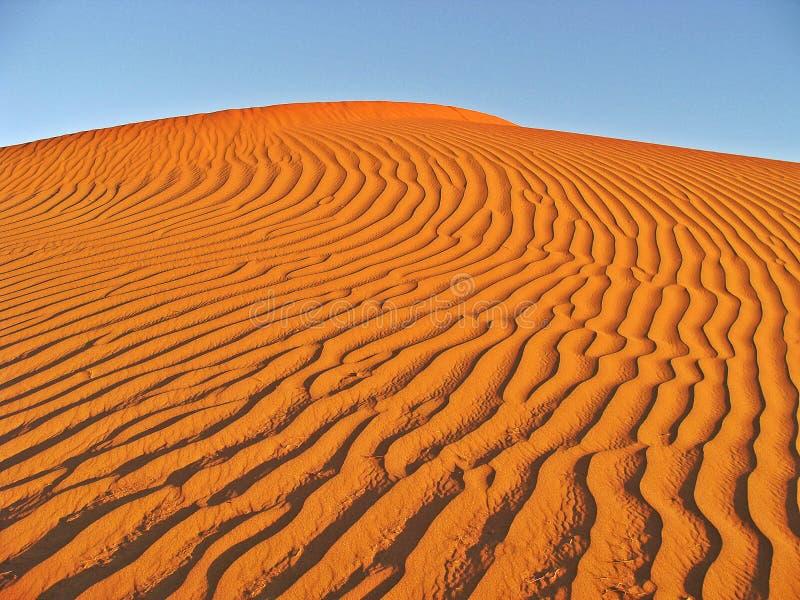 Dünen in der Marokkanersahara-Wüste lizenzfreie stockfotos