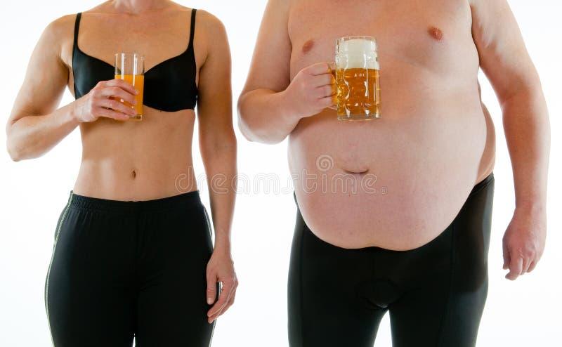 Dünn und Fett stockbilder