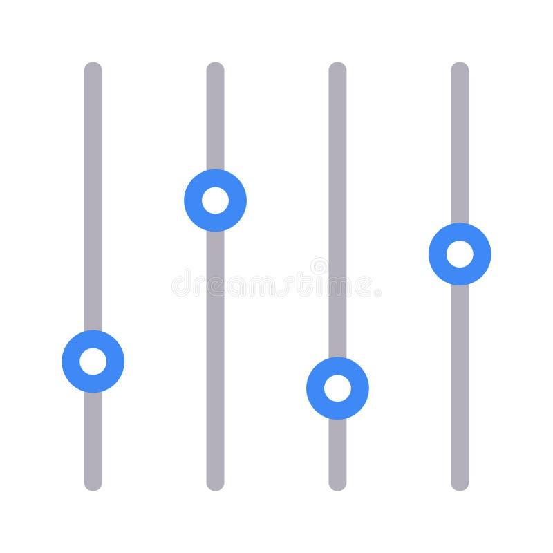 Dünne Farblinieikone des Schiebers vektor abbildung
