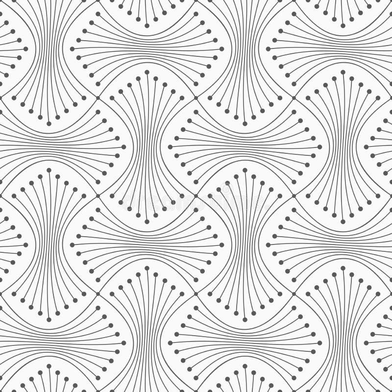 Dünne graue Garbe mit Punkten lizenzfreie abbildung