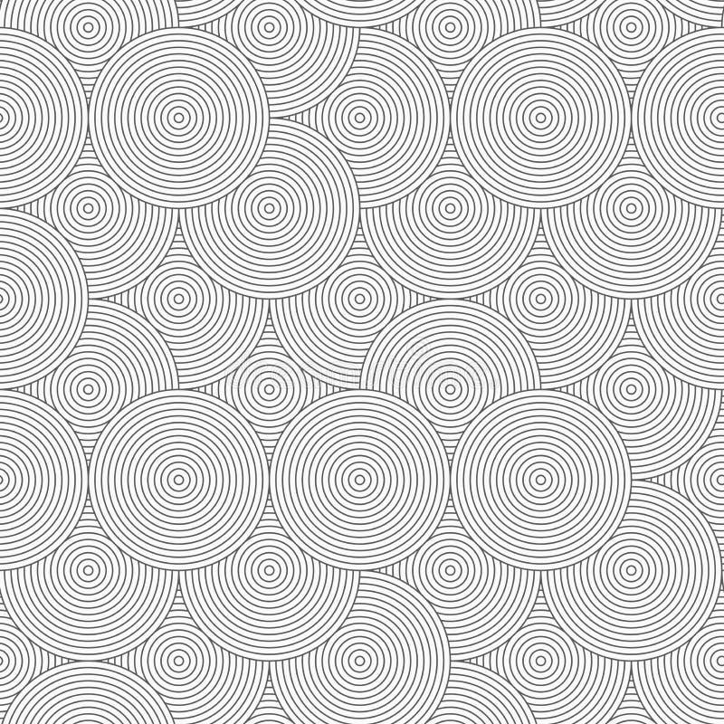 Dünne graue gestreifte überschnittene Kreise gelegentlich vektor abbildung