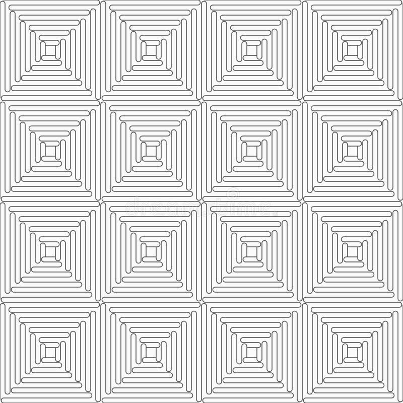 Dünne graue gewellte Quadrate vektor abbildung